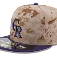 Colorado Rockies MLB Authentic Collection Stars and Stripes 59FIFTY Cap