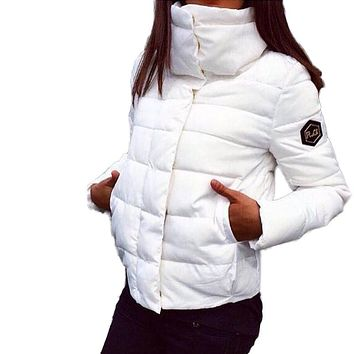 2016 NEW Women Coat 1950s Fashion Autumn Winter Female Down Jacket Women Parkas Casual Jackets Inverno Parka Wadded plus size