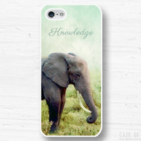 iPhone 5 4 Elephant Case - Wild African Animal Name Initial Custom Personalise - Samsung Galaxy s3 s4, ipod touch - 3