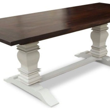 Handcrafted Two-Tone Berkley Farmhouse Table