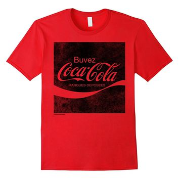 Coca-Cola Vintage French Enjoy Square Logo Graphic T-Shirt