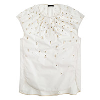 J.Crew Womens Collection Embellished Cocoon Top