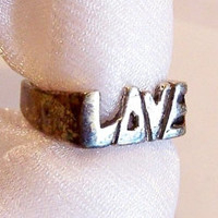 Sterling Silver Ring: LOVE Ring, Sweetheart Ring - Size 5 1/2 - A2006