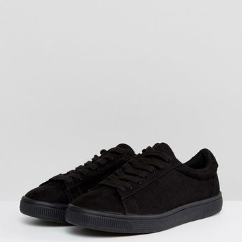 New Look All Over Colour Lace Up Trainer at asos.com