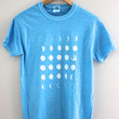 Moon Phases Blue Graphic Tee