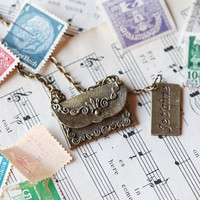 letters from paris necklace