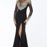 KC14707 Prom Pageant Mother of Bride Dress w/ Sleeves by Kari Chang Couture