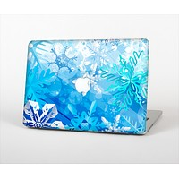 The Winter Abstract Blue Skin Set for the Apple MacBook Air 11""