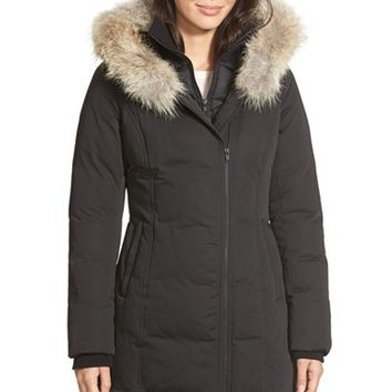 Women's Soia & Kyo 'Salma' Genuine Coyote Fur Trim Down Parka with Inset Bib,
