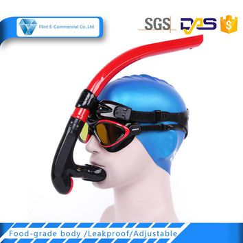 Silicone Mouthpiece Purge Valvel Red Snorkeling Scuba Diving Dry Snorkel in Snorkel