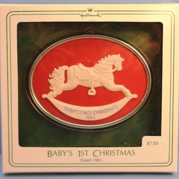 1983 Baby's First Christmas Cameo Hallmark Retired Ornament