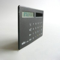 Braun ST 1 solar calculator