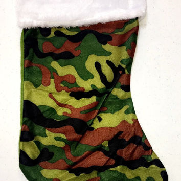 Pink and Green Camo Stockings