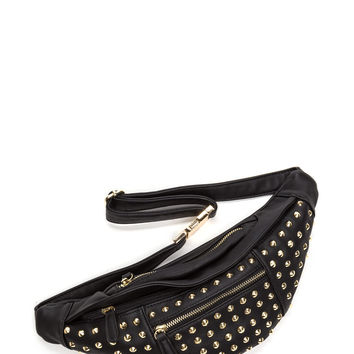Stud-y Hall Faux Leather Fanny Pack