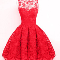 Floral Lace Embroidered Sleeveless Dress