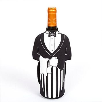Creative Home Neoprene Butler Shape Wine Bottle Cover Jacket