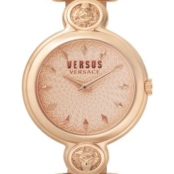 VERSUS by Versace Sunnyridge Leather Strap Watch, 34mm | Nordstrom