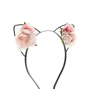 Roses Cat Ear Headband