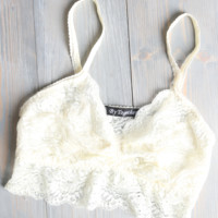 Cream Lace Cami Bralette