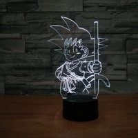 Dragon Ball Z Son Goku Bust 3D LED Illusion Lamp