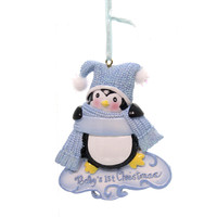 Holiday Ornaments Baby's 1St Christmas Penquin Resin Ornament