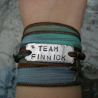 The Hunger Games Bracelet Wrap  TEAM FINNICK by theforksforest