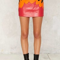 After Party by Nasty Gal New Flame Leather Skirt