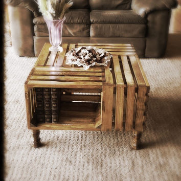 Golden Oak Crate Coffee Table