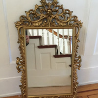 stunning antique wall mounted large mirror