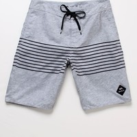 RVCA Sin Layer Volley Stripe Boardshorts - Mens Board Shorts - Gray