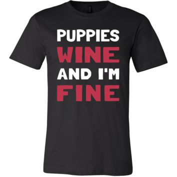 Puppies Shirt - Puppies Wine - Animal Lover Gift