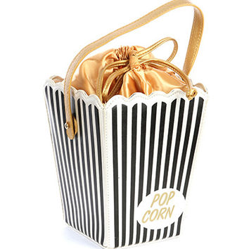 Popcorn Purse in black