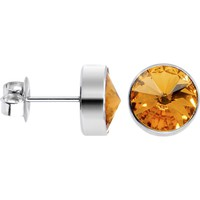 11mm Bezel November Birthstone Stud Earrings