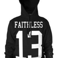 Faithless Crow - Hooded Pullover Sweater | Black Craft