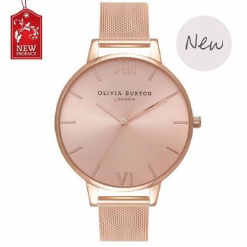 DCCKW2M Ladies watch OLIVIA BURTON fashion simple English fresh stainless steel mesh belt quartz watch.