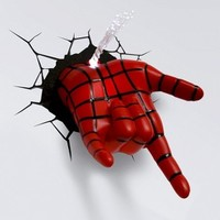 3D Wall Art Nightlight - Spiderman Hand