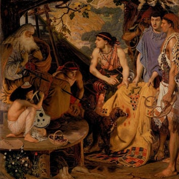 'Ford Madox Brown (Calais London), The Coat of Many Colours, ' by artisticpanda