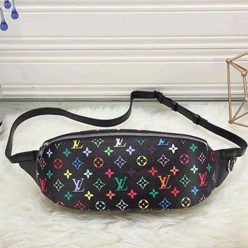 Louis Vuitton LV Fashion Leather Satchel Waist Bag Shoulder Bag Single Bag