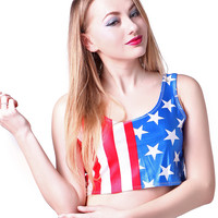 Stars and Stripes Forever Crop Top