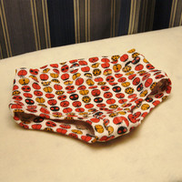 Lady bug girls boyshort style underwear, toddler briefs with red and orange lady bugs, sizes 1T through10.