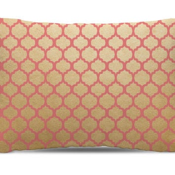 Pink Gold Dog Bed - Pillow Dog Bed- Cushion Dog Bed - dog home decor - Contemporary Dog Bed