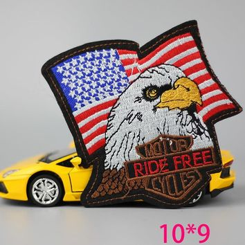 HOT sale 1pc  fashion big America eagle  Iron On Embroidered Patch For Cloth Cartoon Badge Garment Appliques DIY Accessory