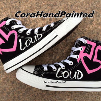 Pink Custom Painted Converse Custom Shoes Custom Shoes Hand Painted Shoes Canvas Shoes Custom Shoes unique Birthday painted Gifts