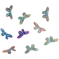 Peacock Design Butterfly Glitter Garland