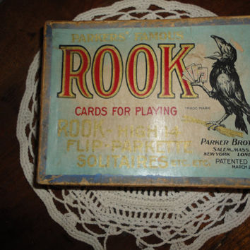 Antique Parker Brothers Famous Rook Card game