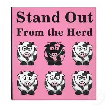 Cute Cows on Pink Background Binder from Zazzle.com