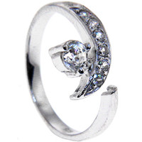 Sterling Silver 925 Cubic Zirconia SOLITAIRE Toe Ring | Body Candy Body Jewelry