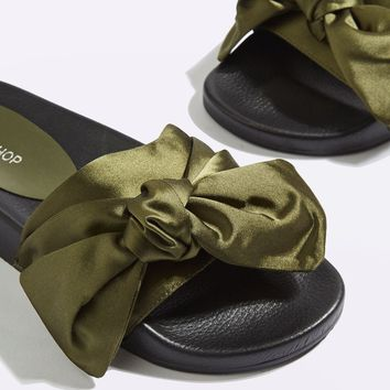 HALO Bow Sliders | Topshop