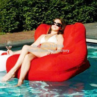 Red outdoor waterproof bean bag chair, external beanbag seat furniture in your pool