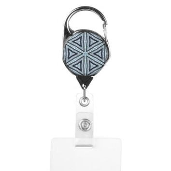 triangle diamonds badge holder